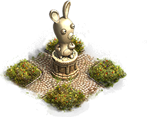 Estátua de Raving Rabbid